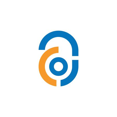 Initial letter ac logo or ca logo vector design template