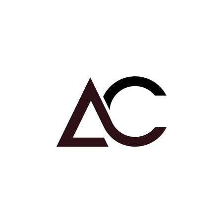 Initial letter ac logo or ca logo vector design template