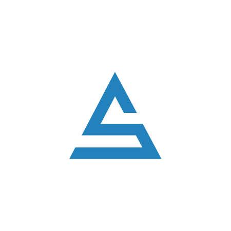 Initial letter as logo or sa logo vector design template