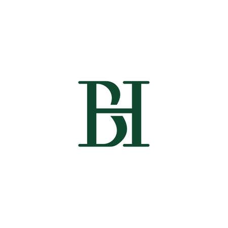 Initial letter bh logo or hb logo vector design template Logo