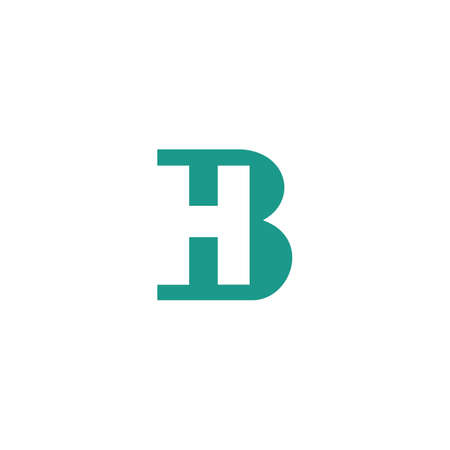 Initial letter bh logo or hb logo vector design template