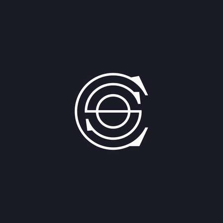 Initial letter cs logo or sc logo vector design template