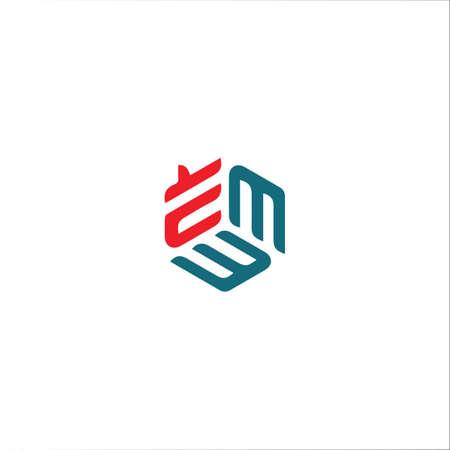 Initial letter e logo or ee logo vector design template Logo