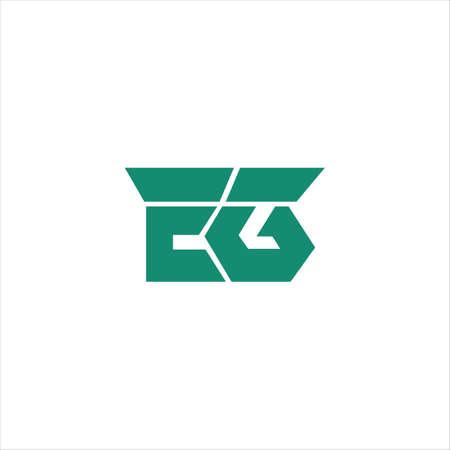 Initial letter eg logo or ge logo vector design template