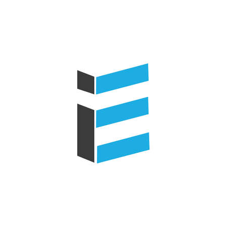 Initial letter ei logo or ie logo vector design template