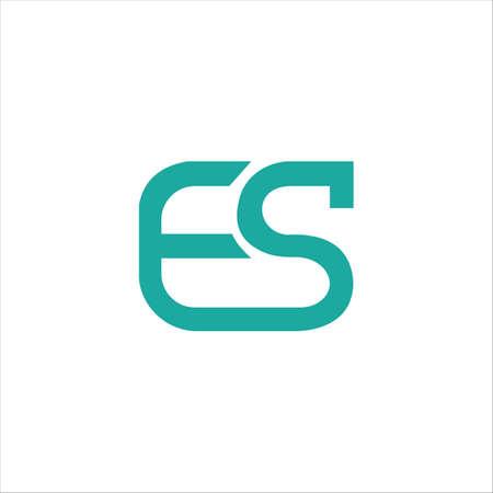 Initial letter es logo or se logo vector design template