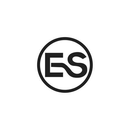 Initial letter es logo or se logo vector design template Ilustração
