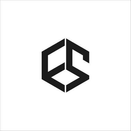 Initial letter es logo or se logo vector design template Logó