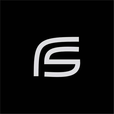 Initial letter fs logo or sf logo vector design template