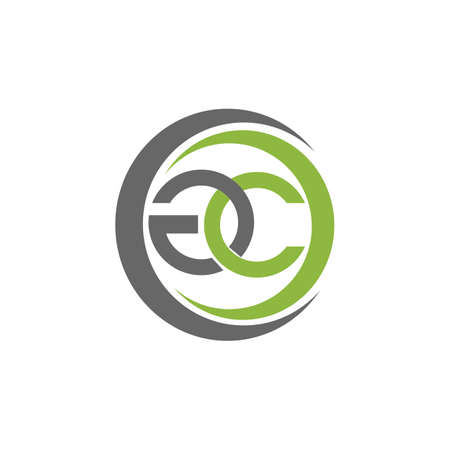 Initial letter gc logo or cg logo vector design template Logó