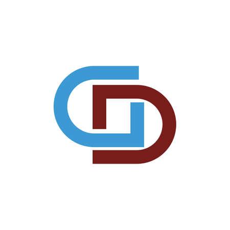 Initial letter gd logo or dg logo vector design template Logo