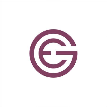 Initial letter ge logo or eg logo vector design template Logó
