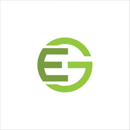 Initial letter ge logo or eg logo vector design template