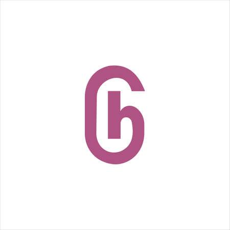 Initial letter gh logo or hg logo vector design template