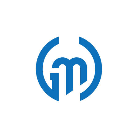 Initial letter gm logo or mg logo vector design template
