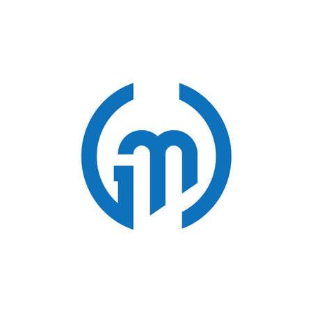 Initial letter gm logo or mg logo vector design template