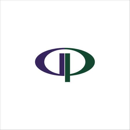 Initial letter gp logo or pg logo vector design template Logó