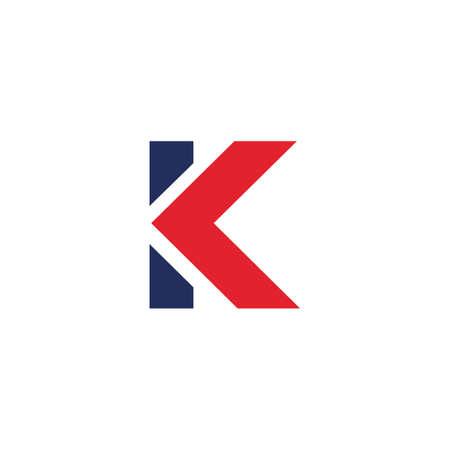 Initial letter k logo or kk logo vector design template Logo