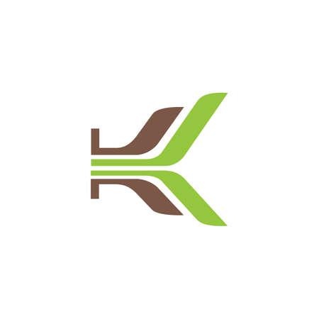Initial letter k logo or kk logo vector design template Logó