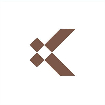 Initial letter k logo or kk logo vector design template