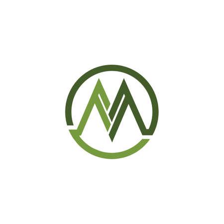 Initial letter m logo or mm logo vector design template Logo