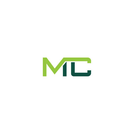 Initial letter mc logo or cm logo vector design template
