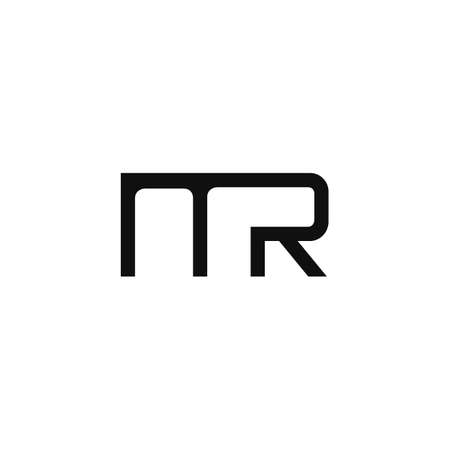 Initial letter mr logo or rm logo vector design template