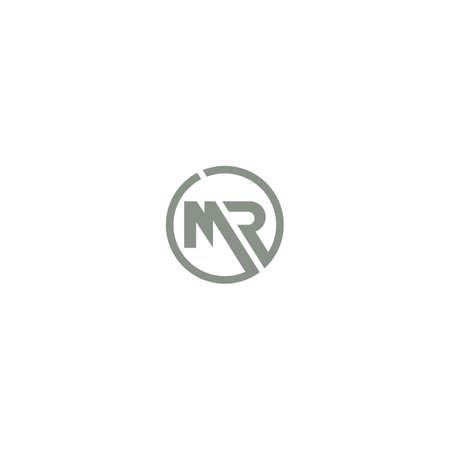 Initial letter mr logo or rm logo vector design template Logó