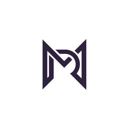 Initial letter mr logo or rm logo vector design template