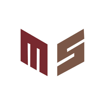Initial letter ms logo or sm logo vector design template