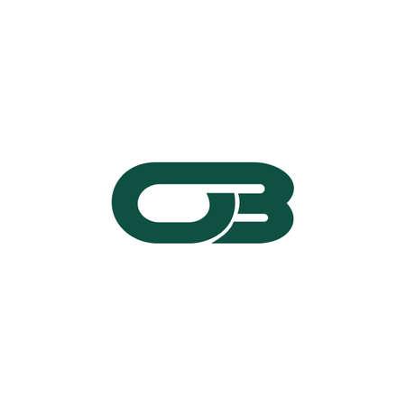 Initial letter ob logo or bo logo vector design template