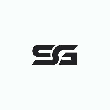 Initial letter sg logo or gs logo vector design template