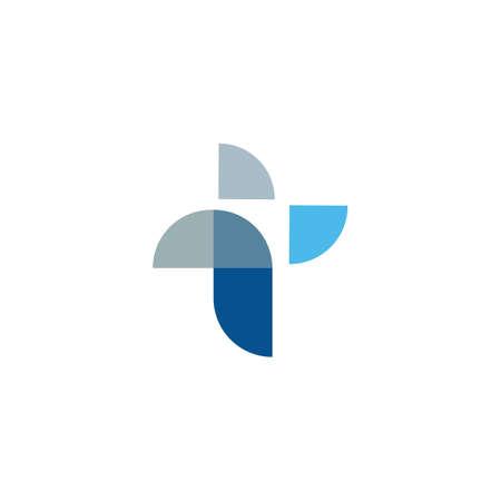 Initial letter t logo or tt logo vector design template