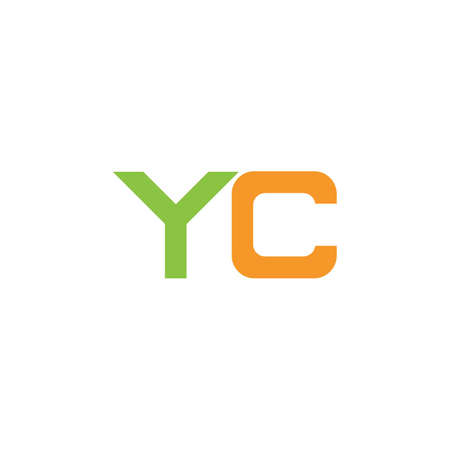 Initial letter cy logo or yc logo vector design template
