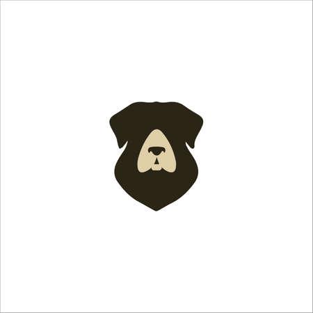 Animal Dog Design Template Vektoros illusztráció