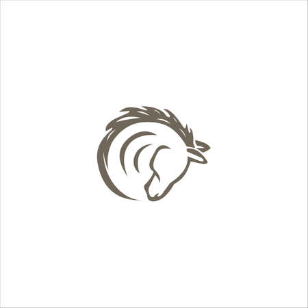 Animal Horse  vector design Template