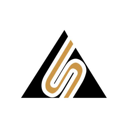 Initial letter sa logo or as logo vector design template