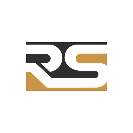 initial letter rs or sr logo vector design