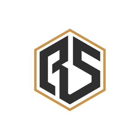 Initial letter rs logo or sr logo vector design template