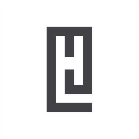 Initial lh letter logo with creative modern business typography vector template. creative abstract letter hl logo design.