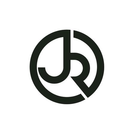 Initial jr letter logo vector template design. Linked letter rj logo design. Simple jr vector template.