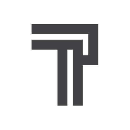 Creative abstract letter pt logo design. Linked letter tp logo design.
