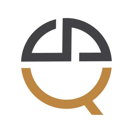 Creative abstract letter sq logo design. Linked letter qs logo design. Logó