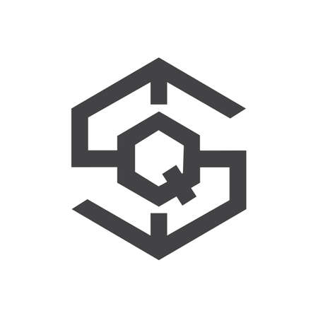 Initial qs letter logo vector template design. Linked letter sq logo design. Simple qs vector template.