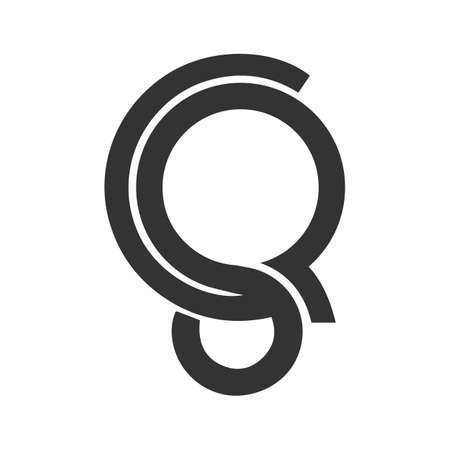 Initial qs letter logo vector template design. Linked letter sq logo design. Simple qs vector template. Logó