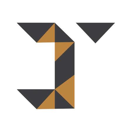Initial tj letter logo vector template design. Linked letter jt logo design. Logó