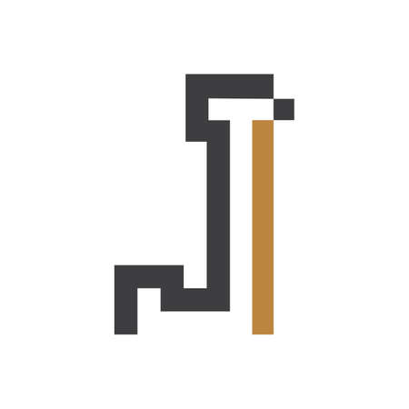 Initial tj letter logo with creative modern business typography vector template. Creative abstract letter jt logo design.