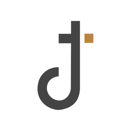Initial tj letter logo vector template design. Creative abstract letter jt logo design. Linked letter jt logo design. Logó