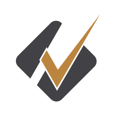 HV, VH, Abstract initial monogram letter alphabet logo design