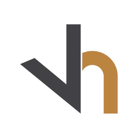 Alphabet letters Initials Monogram logo HV, VH, H and V